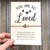 Freundin Geschenk, Valentinstag, Freundin Armband, Valentinskarte, Liebesgeschenk, romantisches Geschenk, Wunsch Armband, Frau Geschenk, Herz Armband   – Products