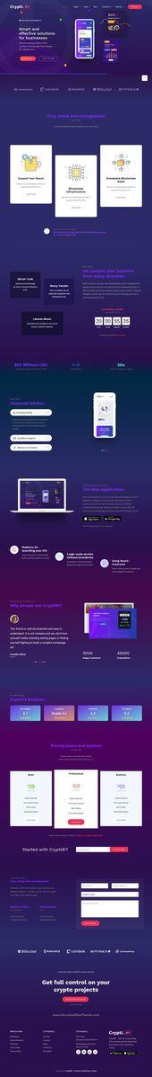 CryptiBIT – Technology, Cryptocurrency, ICO/IEO Landing Page WordPress theme