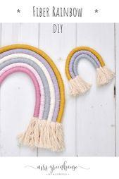 Machen Sie DIY Fiber Rainbow mit Anweisungen sehr einfach   – DIY Nähen / Stricken / Häkeln / Amigurimi