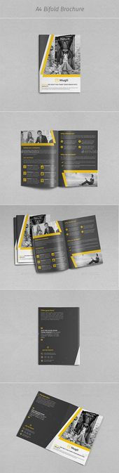 Corporate Bi-Fold Brochure Template InDesign INDD #design Download: graphicriver.net/…