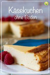 Photo of Käsekuchen ohne Boden, cremig, zitronig und lecker gut – Mei…