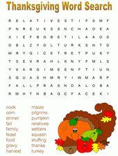 Thanksgiving-Labyrinthe und Wortsuchspiele   – Thanksgiving