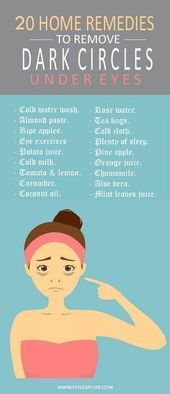 20 Effective Home Remedies to Remove Dark Circles Under Eyes