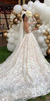 36 wunderschöne a-line Brautkleider, eine Linie Brautkleider mit Illusion lang …