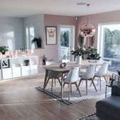 Pink decor, pink accents