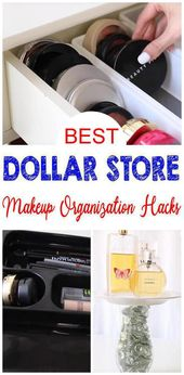 Is it time to clean and organize makeup? Here are some amazing Dollar Stores …