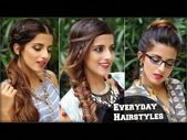 3 Boho hairstyles effortless CUTE daily for school, university, profession / Quick hair tutorial / Vajor – YouTube #forworkeasyhai …