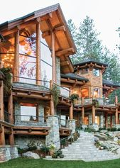 A Lakeside Log Home on Idaho's Lake Coeur d'Alene