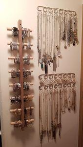25 + › Armbandhalter (DIY); Halsketten- und Ringhalter (von BB & B). Organisierter Schm…
