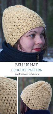 Bellus Hat – Easy Crochet Pattern Design – Project Ideas
