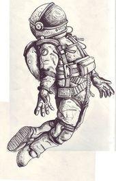 Raketenmann und seine Bedeutung … einen Drachen in der rechten Hand fliegen. (…