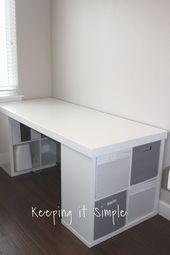 Ikea Hack – DIY Computertisch mit Kallax Regalen