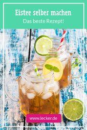 Eistee selber machen – so einfach geht's!  – Kalte Getränke