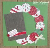 Sei fröhlich Weihnachtskranz Sammelalbum Layout 31 Seite … #Papierhandwerk Sei fröhlich …
