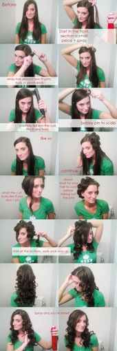 This probably wont work but its worth a try! Flat iron curl tutorial! - By Camillia Courts of www.camilliacourt...