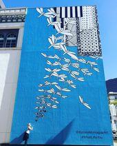Kelsey Montagues Street Art wurde viral, als Taylor Swift vor ihrem Engelsflüge… – Streetart