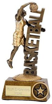 A1243a Resin Female Basketball Trophy Size 13 5cm Free Engraving View More On The Link Http Www Basketball Trophies Custom Trophies Trophies And Medals