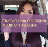 Glattes Haar Lockiges Haar Dominant Rezessiv Glattes Haar Glattes Haar Lockiges