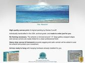 Panoramic abstract ocean artwork, Beachy wall art …