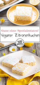 Veganer Zitronenkuchen – Rezepte: Kuchen & Torten