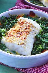 Fischgratin mit Spinat – Ofengerichte
