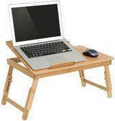 Betere Bedtafel bamboe hout - Tafeltje voor laptop of ontbijt op bed SO-36