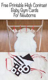 DIY High Contrast Baby Gym Cards – Kostenlos bedruckbare High Contrast Mobile für Neugeborene