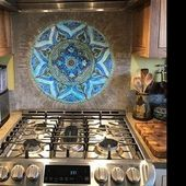 Mandala Wandbehang Keramik Wandkunst | Etsy – Keramikfliesen – #von #ceramic …..   – Keramische Kunst
