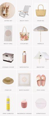 15 cute beach essentials – #Beach #Cute #essential…