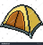 Vector Pixel Art Telt Camp Isolated Stock Vector (Royalty Free) 1172210293