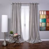 Orren Ellis Bordovice Solid Semi-Sheer Grommet Single Curtain Panel