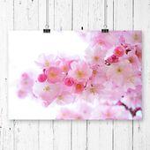 """Big Box Art """"Flower Pink Japanische Kirschbäume"""" Grafik   – Products"""