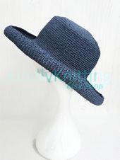 Large wide brim sun hat Raffia hats crochet for large head Sunhat for women – KindlyKnitting ETSY SHOP