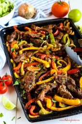 Einfache Sheet Pan Steak Fajitas