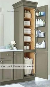 Excite Your Visitors with These 14 Cute Half-Bathroom Layouts  #bathroom#bathroo…