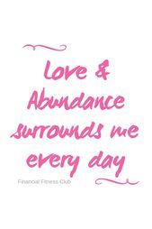 Love & Abundance – Wealth Affirmation Coffee Mug |…