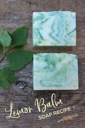 Beautiful lemon balm soap (Cold Process recipe   – DIY