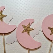Baby Showers Twinkle Cloud star cupcake wrapper shimmer 12 white baby shower   Etsy