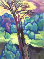 """Anatoliy Chudinovskikh """"Wolken"""" Impressionismus Realismus Expressionismus Sowjetische Postsowjetische Malerei Gouache auf Papier"""