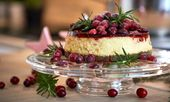 Glühwein Cheesecake mit Cranberries