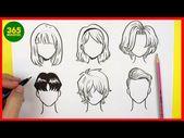 COMO DIBUJAR CABELLO ANIME / COMO DIBUJAR PELO MANGA – como dibujar anime facil …