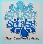 Craftecafe Mindy Summer Splash Swim Titel vorgefertigtes Sammelalbum