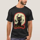 Black Cat Pumpkin Moon Halloween Costume Funny T-Shirt | Zazzle.com