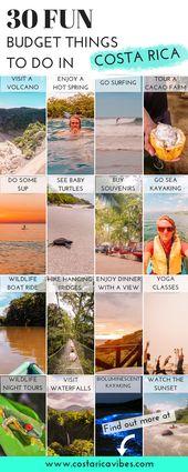30 Dinge, die man in Costa Rica mit kleinem Budget unternehmen kann