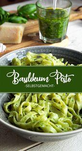 Basilikum-Pesto selbstgemacht