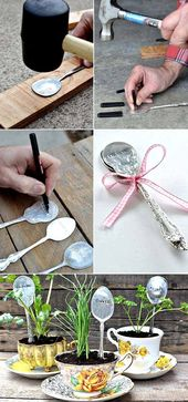 10 AMAZING DIY Plant Labels and Marker Ideas Your Garden