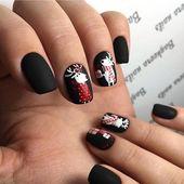 Magical winter nail design idea!!! Love it