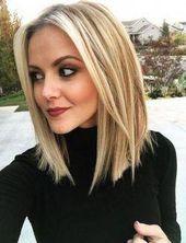 Trendy Frisur für Frauen Schulterlang Wellen 21 Ideen #Haarschnitt #Choppybobhairstyles