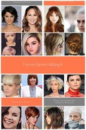 frisuren damen halblang #Kurze Haarschnitte rundes gesicht Gute frisuren damen h…