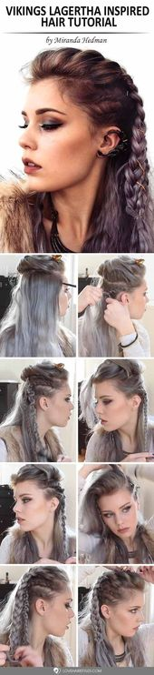 Wikinger Lagertha Inspired Hair Tutorial ★ Mehr sehen: lovehairstyles.co …  … – Kostüm: Vikings
